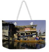 Floating Shop Along With Another Shop On Floats In The Dal Lake Weekender Tote Bag