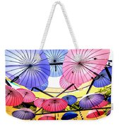 Floating Umbrella Weekender Tote Bag