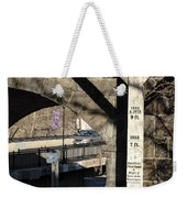 Flood Height Sign At Ellicott City Maryland Weekender Tote Bag