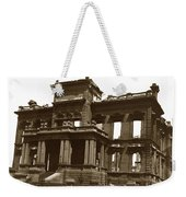 James Clair Flood Mansion Atop Nob Hill San Francisco Earthquake And Fire Of April 18 1906 Weekender Tote Bag