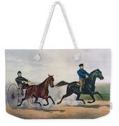 Flora Temple And Lancet Racing On The Centreville Course Weekender Tote Bag