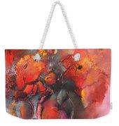 Floral 01 Weekender Tote Bag by Miki De Goodaboom