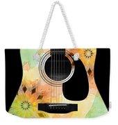 Floral Abstract Guitar 14 Weekender Tote Bag