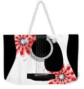 Floral Abstract Guitar 33 Weekender Tote Bag