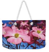Floral Art Print Pink Dogwood Tree Flowers Weekender Tote Bag