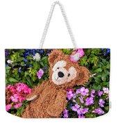 Floral Bear Weekender Tote Bag