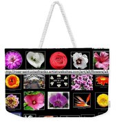 Floral Composite Not For Sale Weekender Tote Bag
