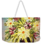 Floral Delight Acrylic Painting Weekender Tote Bag