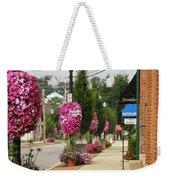 Floral Lining Weekender Tote Bag by Caryl J Bohn