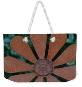 Floral Metal Art Weekender Tote Bag