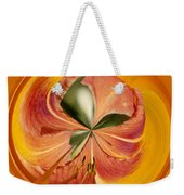 Floral Orange Orb Weekender Tote Bag