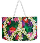 Floral Peace Pop Art Weekender Tote Bag
