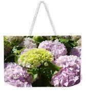 Floral Pink Lavender Hydrangea Garden Art Prints Weekender Tote Bag