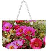 Floral Portulaca Garden Weekender Tote Bag