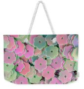 Floral Shape Sequins Weekender Tote Bag
