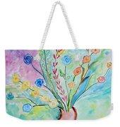 Floral Stream Weekender Tote Bag