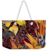 Floral Tiles Weekender Tote Bag