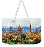 Florence Watercolor Weekender Tote Bag