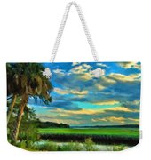Florida Landscape With Palms Weekender Tote Bag