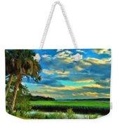 Florida Landscape With Palms Weekender Tote Bag