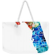 Florida - Map By Counties Sharon Cummings Art Weekender Tote Bag