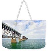 Florida Overseas Railway Bridge Near Bahia Honda State Park Weekender Tote Bag