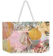 Florida Seashells Collage Weekender Tote Bag