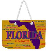 Florida State Pride Map Silhouette  Weekender Tote Bag