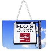 Flo's Steamed Hot Dogs Weekender Tote Bag