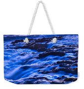 Flow - Dramatic Sunset View Of A Sea Stack In Davenport Beach Santa Cruz. Weekender Tote Bag