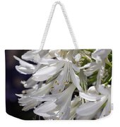 Flower-agapanthus-white-flora Weekender Tote Bag