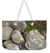 Flower And Rocks Weekender Tote Bag