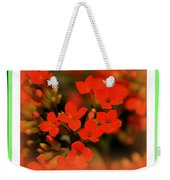 Flower And Time Quote Weekender Tote Bag