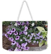 Flower Barrel Weekender Tote Bag