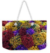 Flower Bed Across The Street From The Grand Palais Off Of Champs Elysees  Weekender Tote Bag