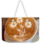 Flower Bouquet Latte Art Weekender Tote Bag