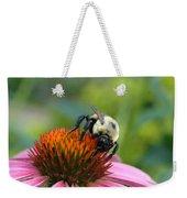 Flower Bumble Bee Weekender Tote Bag