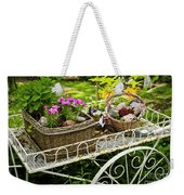 Flower Cart In Garden Weekender Tote Bag