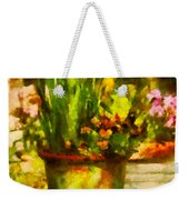 Flower - Daffodil - A Pot Of Daffodil's Weekender Tote Bag by Mike Savad