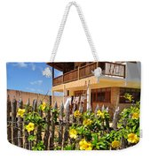 Flower Fence For A Beach Loft In Jeri Weekender Tote Bag