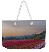 Flower Field At Sunset In A Standard Ratio Weekender Tote Bag