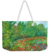 Flower Field Weekender Tote Bag