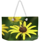 Flower Fly And Yellow Flowers Weekender Tote Bag