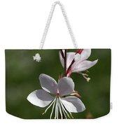 Flower-gaura-white  Weekender Tote Bag