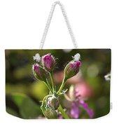 Flower-geranium Buds Weekender Tote Bag