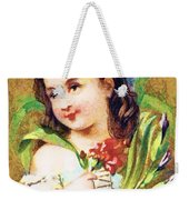 Flower Girl Weekender Tote Bag