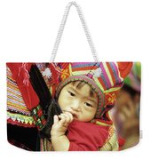 Flower Hmong Baby 01 Weekender Tote Bag