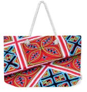 Flower Hmong Embroidery 02 Weekender Tote Bag