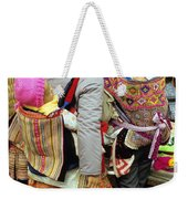Flower Hmong Mothers And Babies Weekender Tote Bag