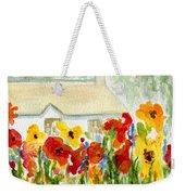 Flower House Weekender Tote Bag